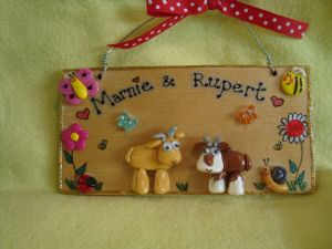 3D 2 CHARACTER GOAT GARDEN FARM SHED OR WALL SIGN ANY COLOUR OR BREED WOODEN PERSONALISED ORDER  RECTANGLE